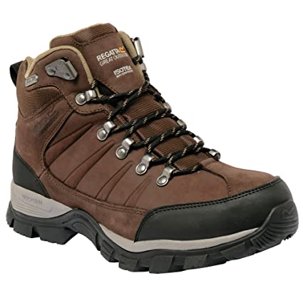 Regatta Great Outdoors Mens Borderline Mid Cut Hiking Boots (UK 12) (Peat) 842f9884d14