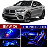 bmw x6 2008-2015 led premium blue light interior package kit ( 18 pcs )