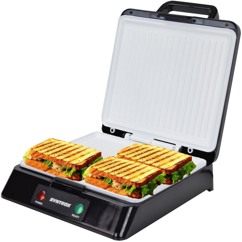 Kleingeräte Küche Syntrox Kg-2000w Kontaktgrill Xxl Mit Keramikplatten