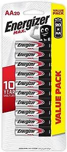 Energizer AA Batteries, MAX Alkaline, 20 Pack