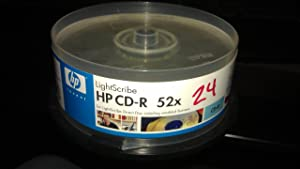 HP 52x LightScribe 700MB 80-Minute CD-R Media - 25 Pack