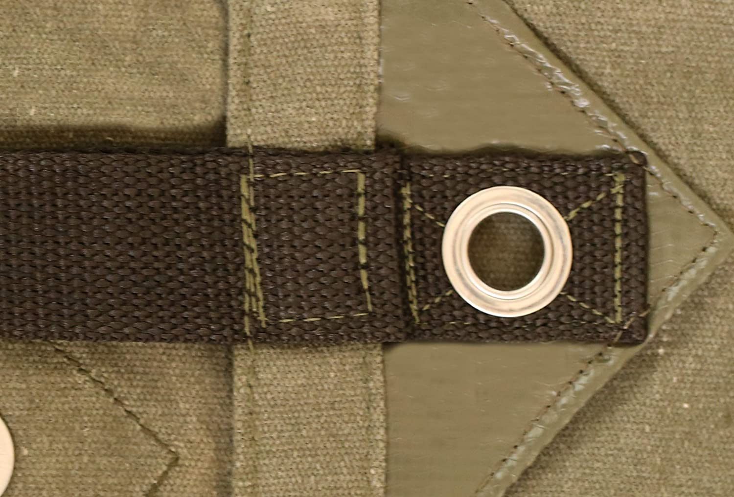 Heavy Duty Canvas Tarp Reinforced Edges Mold Reflective Tape -Industrial /& Commercial use Waterproof UV Resistant w//Rustproof Grommets 18oz Cut Size: 8 x 20, Finished Size: 78 x 198