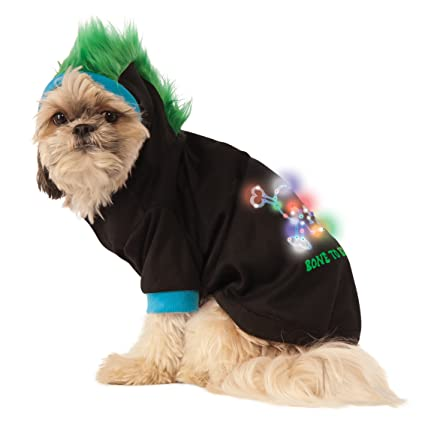 6c4afb04 Amazon.com : Rubie's LED Light-Up Halloween Hoodie Dog Costume : Pet ...