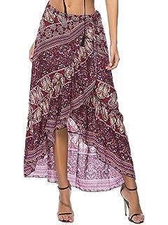 6727573519672 ... High Waist Long Skirt. $20.85 · SUNJIN ARCO Women's Floral Print  Chiffon Maxi Wrap Skirt Beach Cover Up
