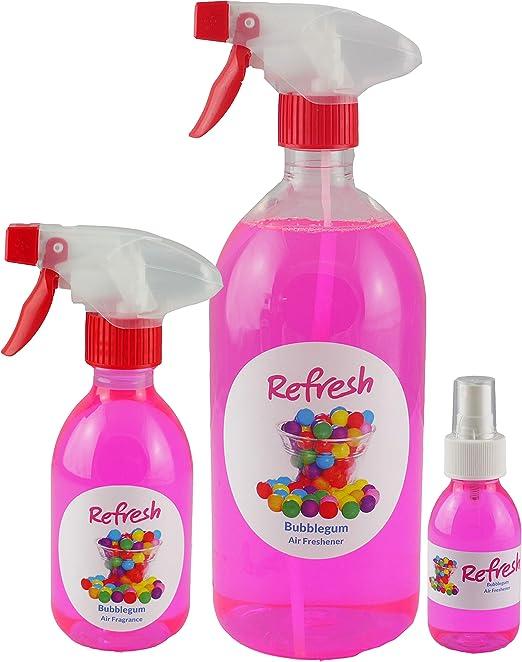 Ambientador, olor a chicle (3 unidades, 1 L, 250 ml y 125 ml ...