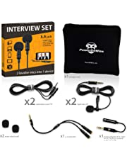 2 Lavalier Lapel Microphones Set for Dual Interview - Dual Lavalier Microphone - Lavalier Microphone Set - Perfect as Blogging Vlogging Interview Microphone for iPhone 6, 7, 8, X