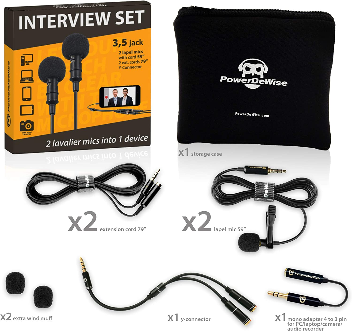 Professional Grade 2 Lavalier Lapel Microphones Set for Dual Interview on alpine stereo harness, amp bypass harness, cable harness, pet harness, engine harness, battery harness, fall protection harness, obd0 to obd1 conversion harness, suspension harness, electrical harness, safety harness, maxi-seal harness, radio harness, nakamichi harness, dog harness, oxygen sensor extension harness, pony harness,