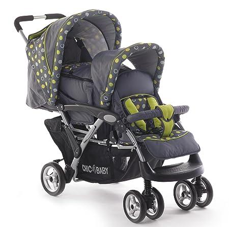 Chic 4 Baby 274 42 Geschwisterwagen DUO Terranova mit Babytragetasche und regenschutz