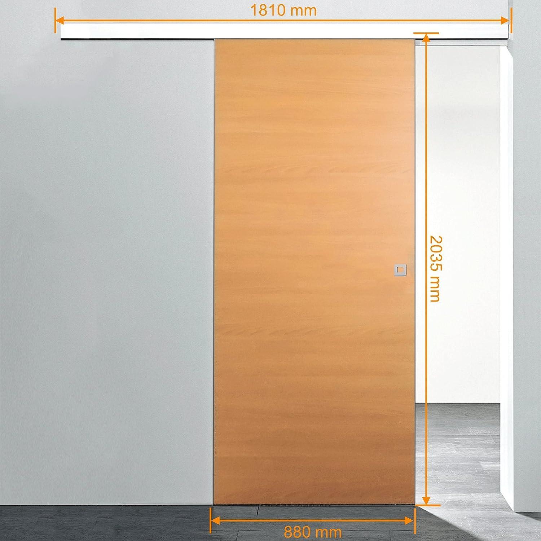 Extremely Holz Schiebetür Buche Komplettset Mit Schiebetür Beschlag 880 X  AT81