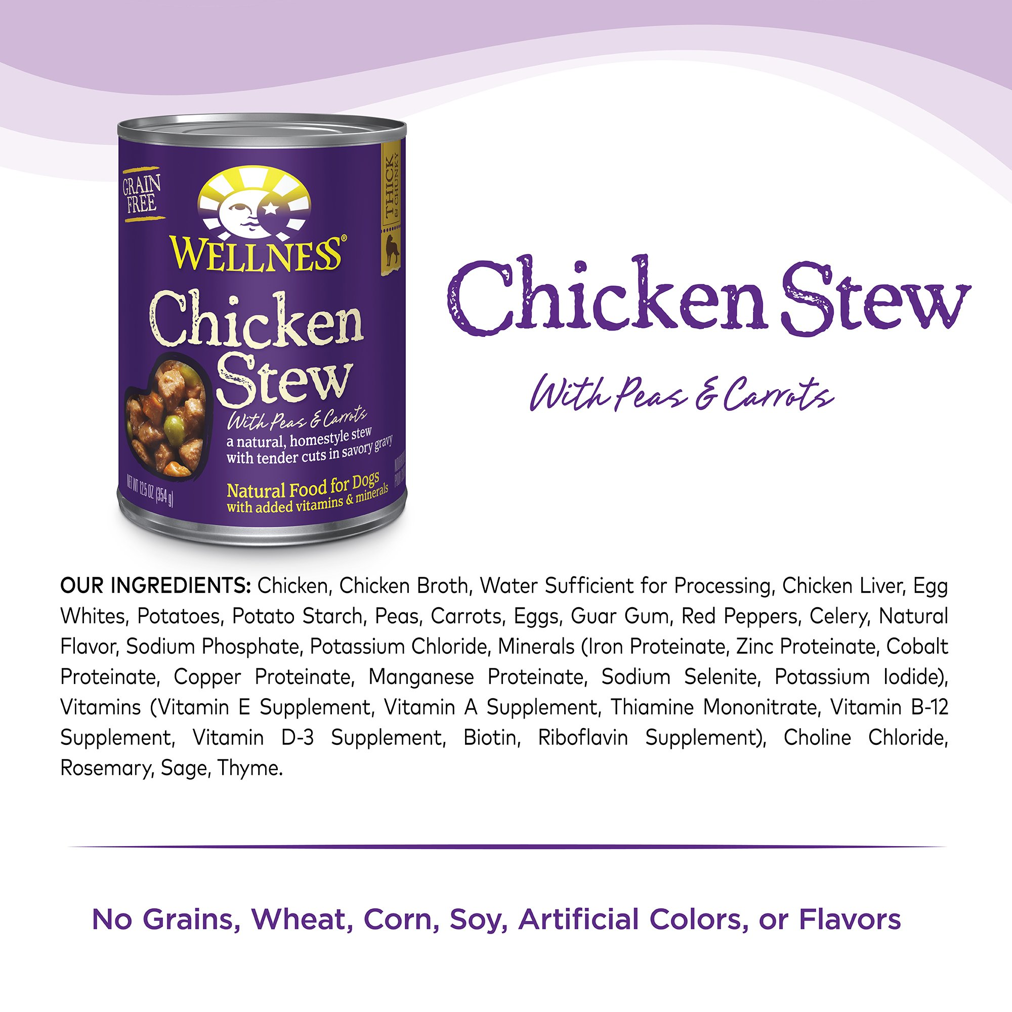 Wellness Thick Chunky Natural Wet Grain Free Canned Dog