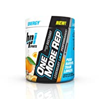 BPI Sports One More Rep Pre Workout Powder Energy Drink with Beetroot for Muscle Pump, Hurricane Orange, 25 Servings, 8.8 Ounce