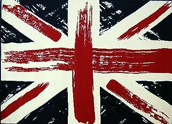 Mondial Tapis Poukpeinture 080 Tapis Anglais Avec Drapeau Union Jack