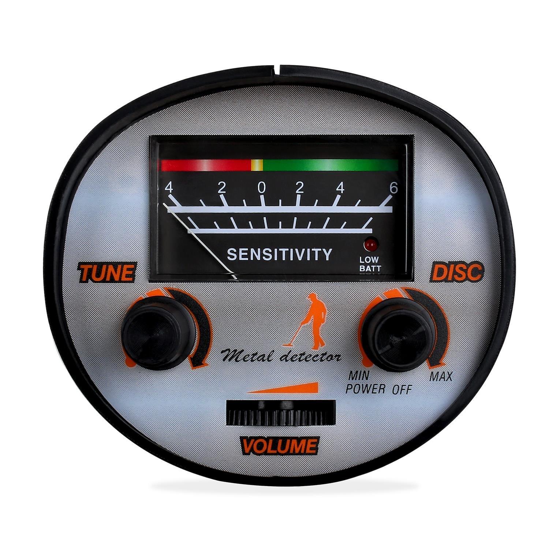 DURAMAXX Detector de Metales Resistente al Agua 16,5 cm (diseño ultracompacto y Desmontable, Peso Ligero, 1.5 m Profundidad de búsqueda, ...