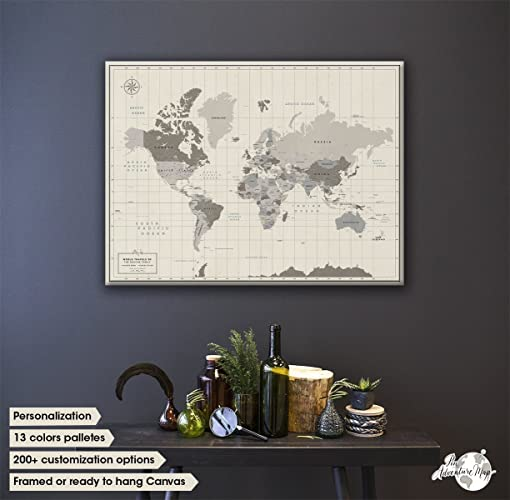 Amazoncom World Travel Map With Pins Gift Idea For Travelers - Personalized world map with pins