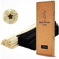 T&C 120PCS Reed Diffuser Sticks,10 Inch Natural Rattan Wood Sticks,Diffuser Refills,Essential Oil Aroma Diffuser…
