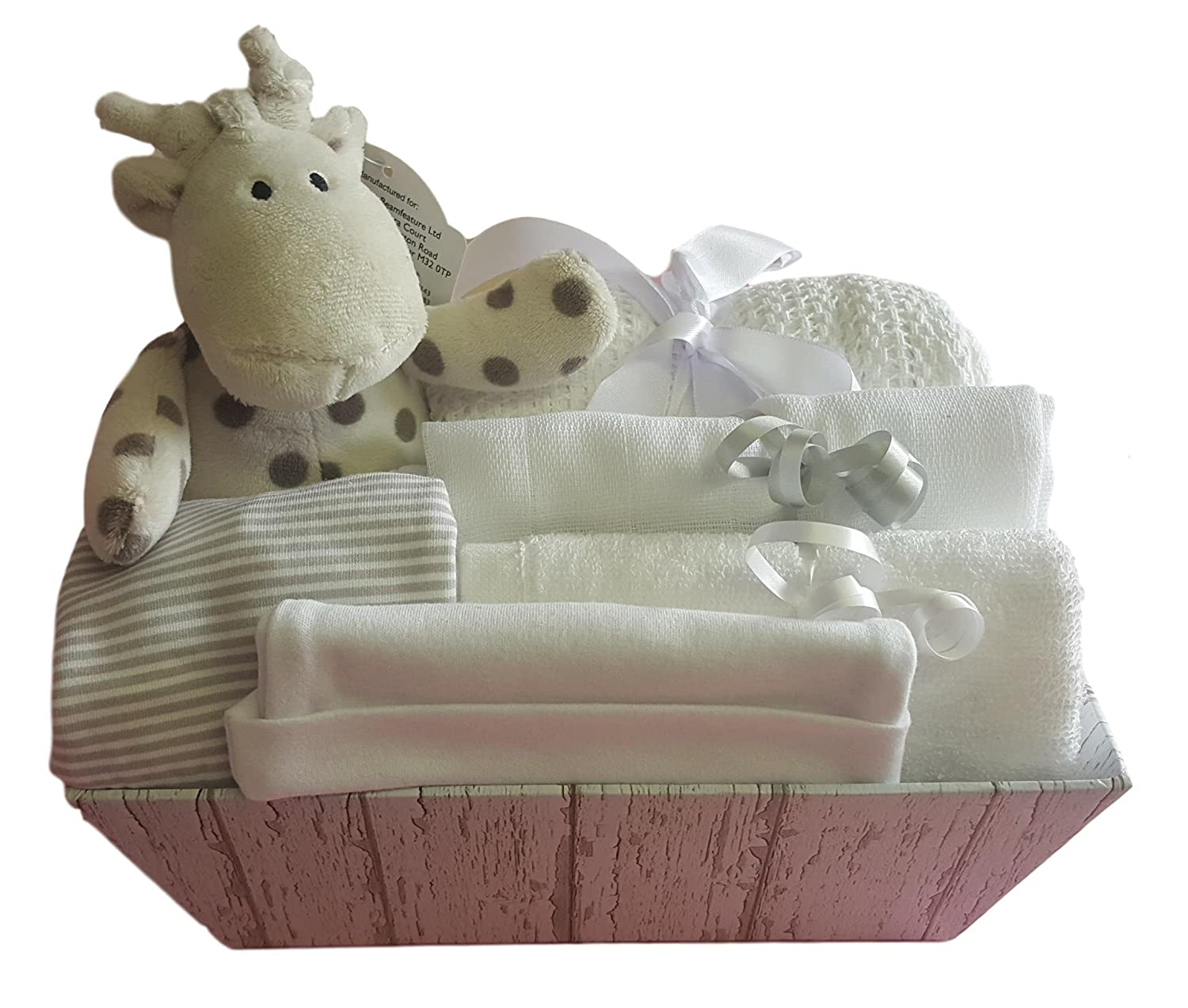 Baby Gift Hamper Neutral. Baby Gift Set Neutral. Baby Shower Gift Basket. New Baby Gift. Unisex Baby Gift Basket The Gift Basket Boutique
