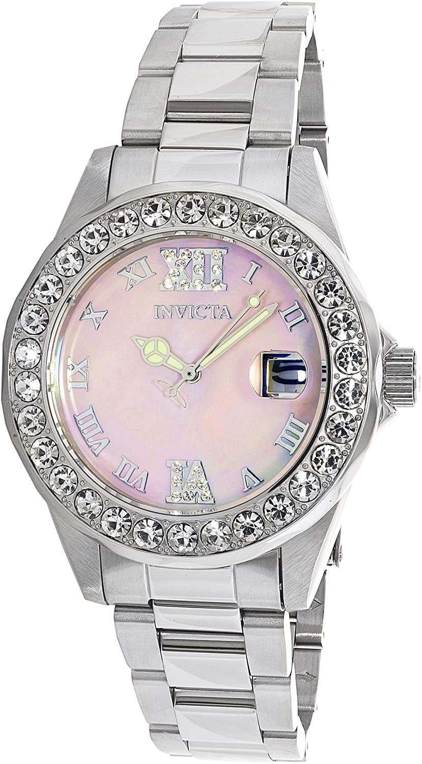 Amazon.com: Invicta Women's 'Sea Base' Quartz Stainless Steel Casual Watch,  Color:Silver-Toned (Model: 20388): Invicta: Watches