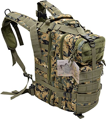EXPLORER Tactical 72 Hours Combat Rucksack 17 Inch Backpack-Woodland Digital