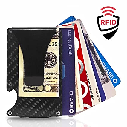 Amazon nextac gear premium slim front pocket wallet with nextac gear premium slim front pocket wallet with removable money clip carbon fiber and aluminum reheart Choice Image