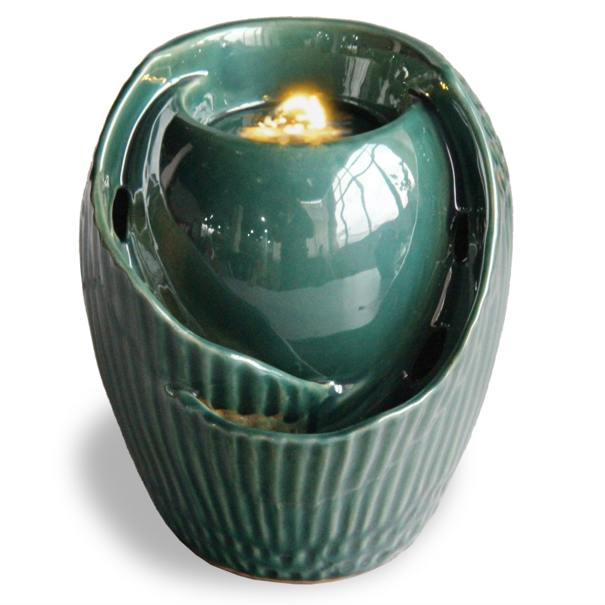 Pacific Decor Led Fountain, 8-Inch x 6.5-Inch, Green