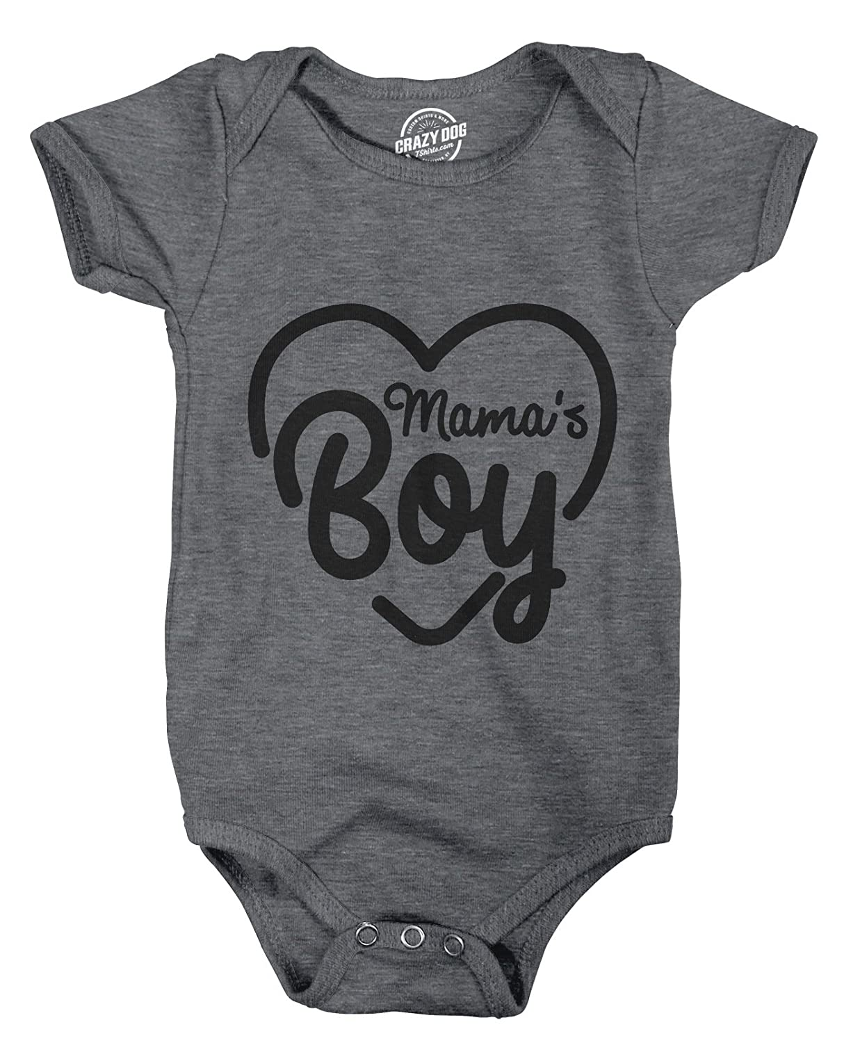 Crazy Dog T-Shirts Creeper Mamas Boy Cute Funny Baby Bodysuit for Newborn Son Crazy Dog Tshirts
