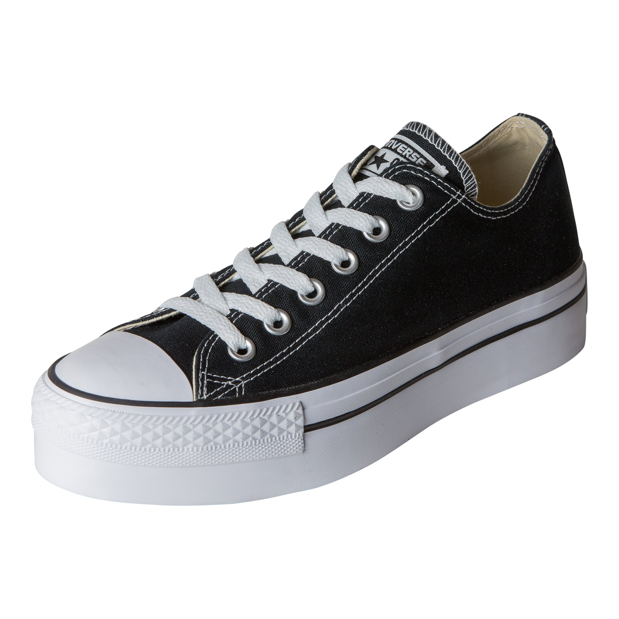 Converse Women's Chuck Taylor All Star Lo Platform,Black/White,US 5.5 M
