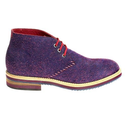 fbefcb4712a23 Grandiscarpe Polacchini Tipo Clarks con Lacci Calzature Artigianali Rosso  Taglia 42  Amazon.it  Scarpe e borse