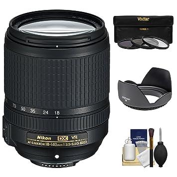 【クリックで詳細表示】Nikon 18???140?mm f / 3.5???5.6?G VR DX ED af-s nikkor-zoomレンズwith 3?UV / CPL / nd8フィルタ+フード+キットfor d3200、d3300、d5300, d5500、d7100、d7200カメラ