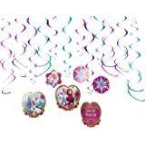 Disney Frozen Foil Swirl Birthday Party Decoration (12 Pack), Multi Color, .