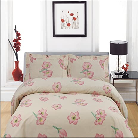 Premium Flower Bed Sheets Set   T400 100% COTTON Printed, 4 Piece Sets,