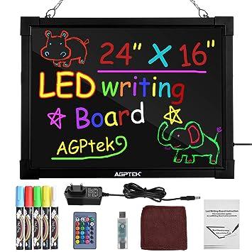 Pizarrón LED para Mensajes AGPtek de 24