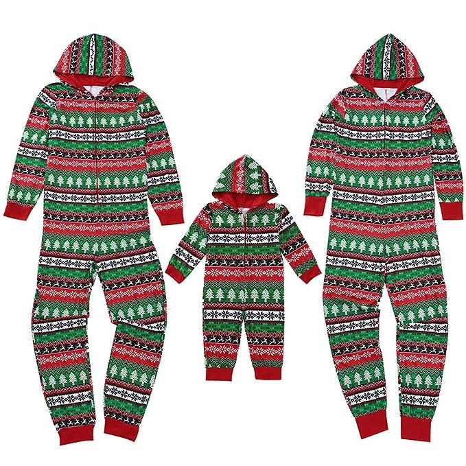 Surfiiy Pijama Familia Navidad Chándal con Capucha, Hombre Padre ...