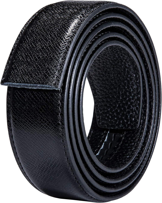 Dubulle Cintura a cricchetto scorrevole di lusso in vera pelle italiana con fibbia automatica per uomo