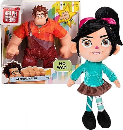 "Ralph Breaks the Internet 13/"" Plush Toy Doll Disney Store Vanellope Von Plush"