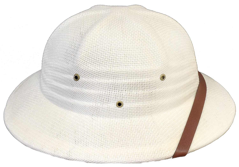 dd555f0fad1 Sun Safari Pith Helmet   White   High Quality at Amazon Men s Clothing  store  Hats