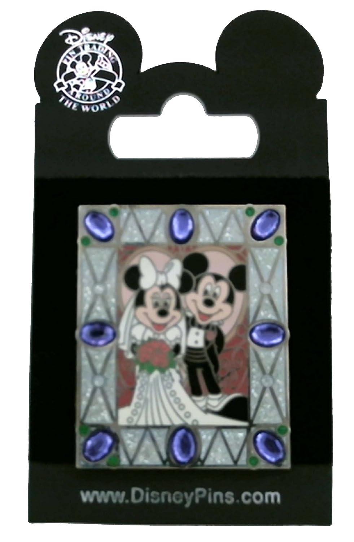 Amazon.de: Disney Pin/Hochzeit Foto Mickey & Minnie Jewel Rahmen