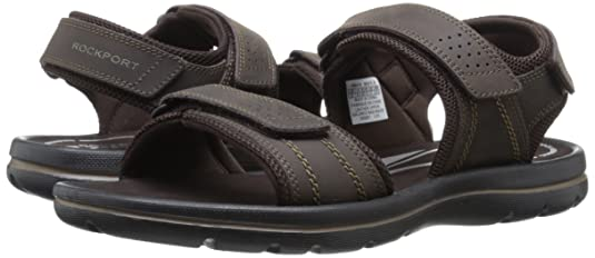 Amazon.com | Rockport Men's Get Your Kicks Quarter Strap Flat Sandal |  Sandals