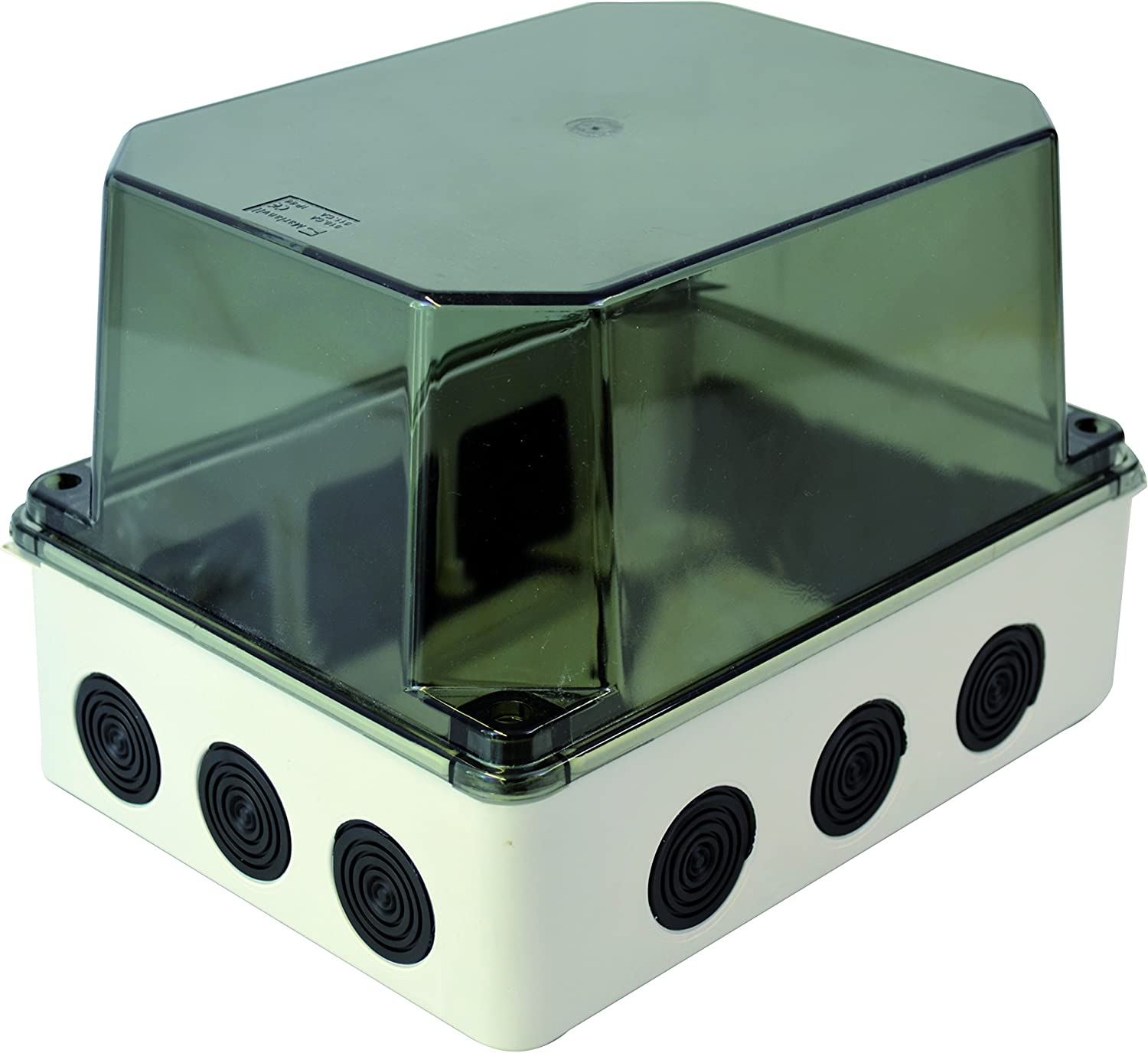 Installation HOUSING WITH MEMBRANE launches transparent lid 243x190x155mm