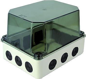 Carcasa de plástico Carcasa de instalación 12 entradas de diafragma | IP65 | 243x190x155 mm |