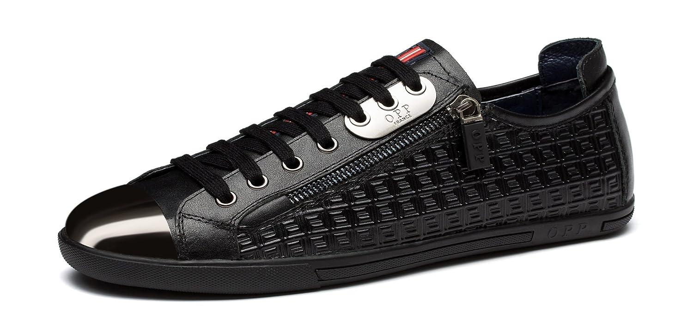 OPP Hombres Sneaker Zapatos de Piel Diseño de marca 46 EU|Negro