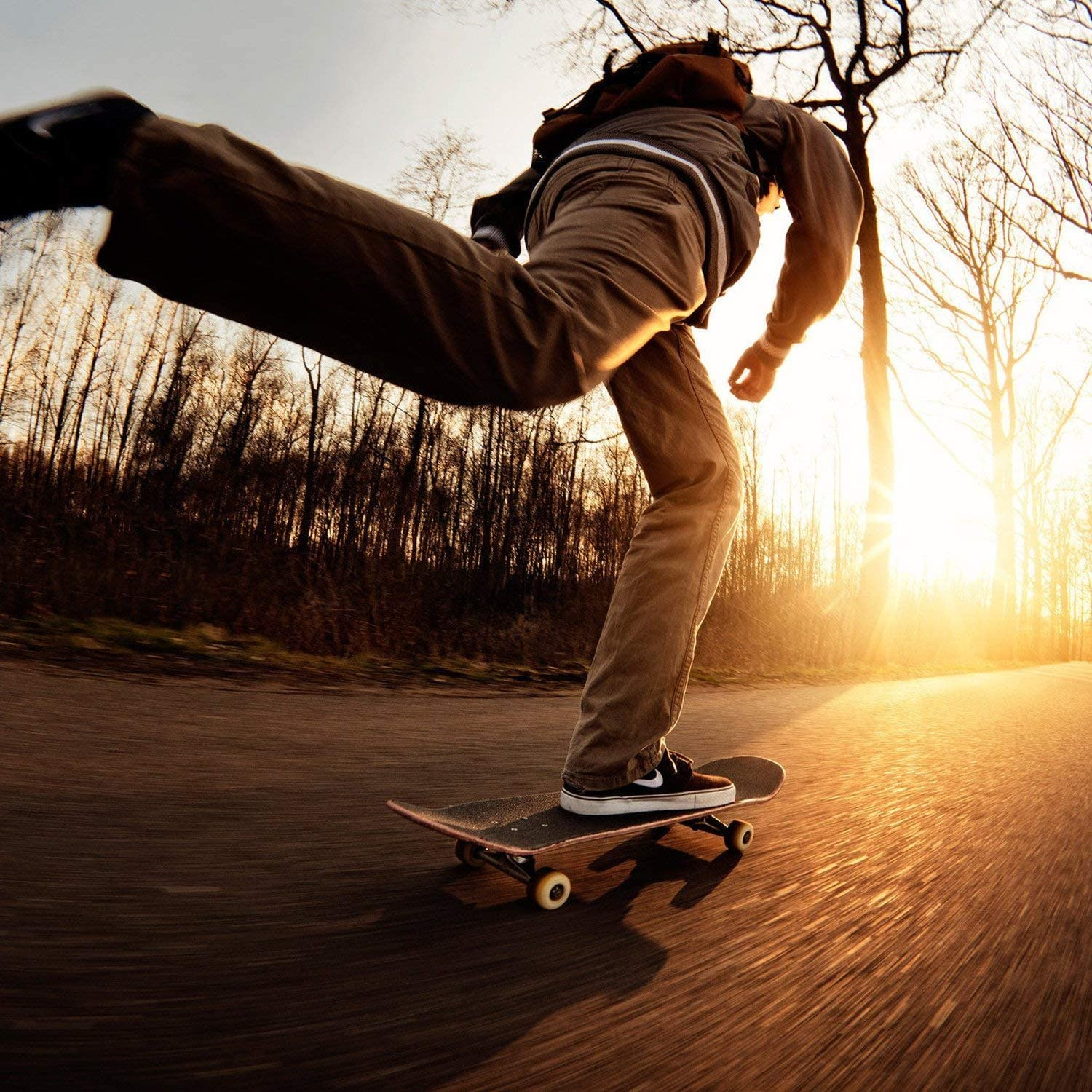 Aceshin Skateboard 31 x 8 Complete PRO Skateboard 9 Layer Canadian Maple Wood Double Kick Tricks Skate Board Concave Design for Beginner,Gift for Kids Boys Girls Youths