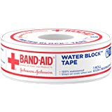 Band-Aid Brand First Aid Water Block 100% Waterproof Self-Adhesive Tape Roll for Durable Wound Care to Firmly Secure Bandages, 1/2 In by 10 yd
