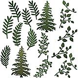 17 Pieces Plant Die Set Tree Metal Die Cuts Scrapbooking Card Making Die Cuts Thanksgiving Christmas Craft Dies Cut Stencils
