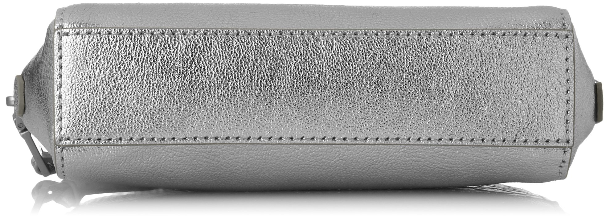 Liebeskind Berlin Women's Rhinebeck Metallic Leather Cosmetic Case, Silver by Liebeskind Berlin (Image #4)