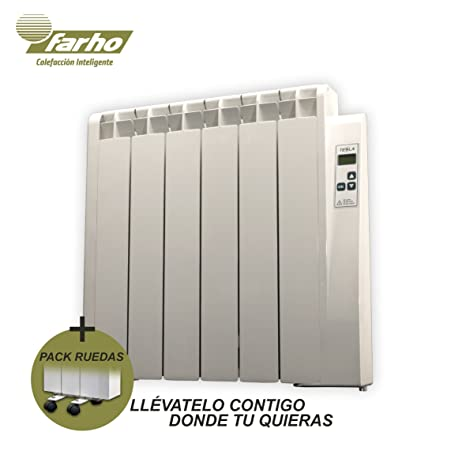 farho Radiador Electrico + Juego de Ruedas Tessla • 750 W • Emisor Termico con!