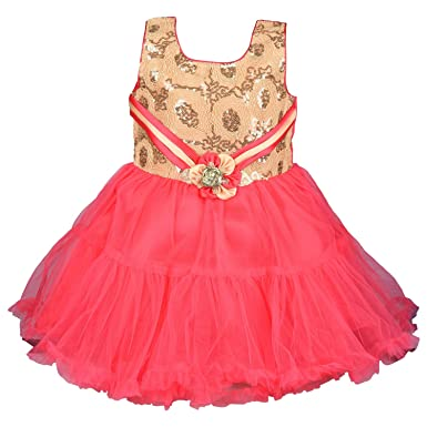 36bb15dbf Wish Karo Baby Girls Net Party Wear Frock Dress - (bx45)  Amazon.in ...