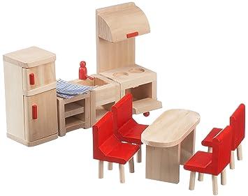 beeboo 32302 - Muebles de Cocina de Madera para casa de muñecas