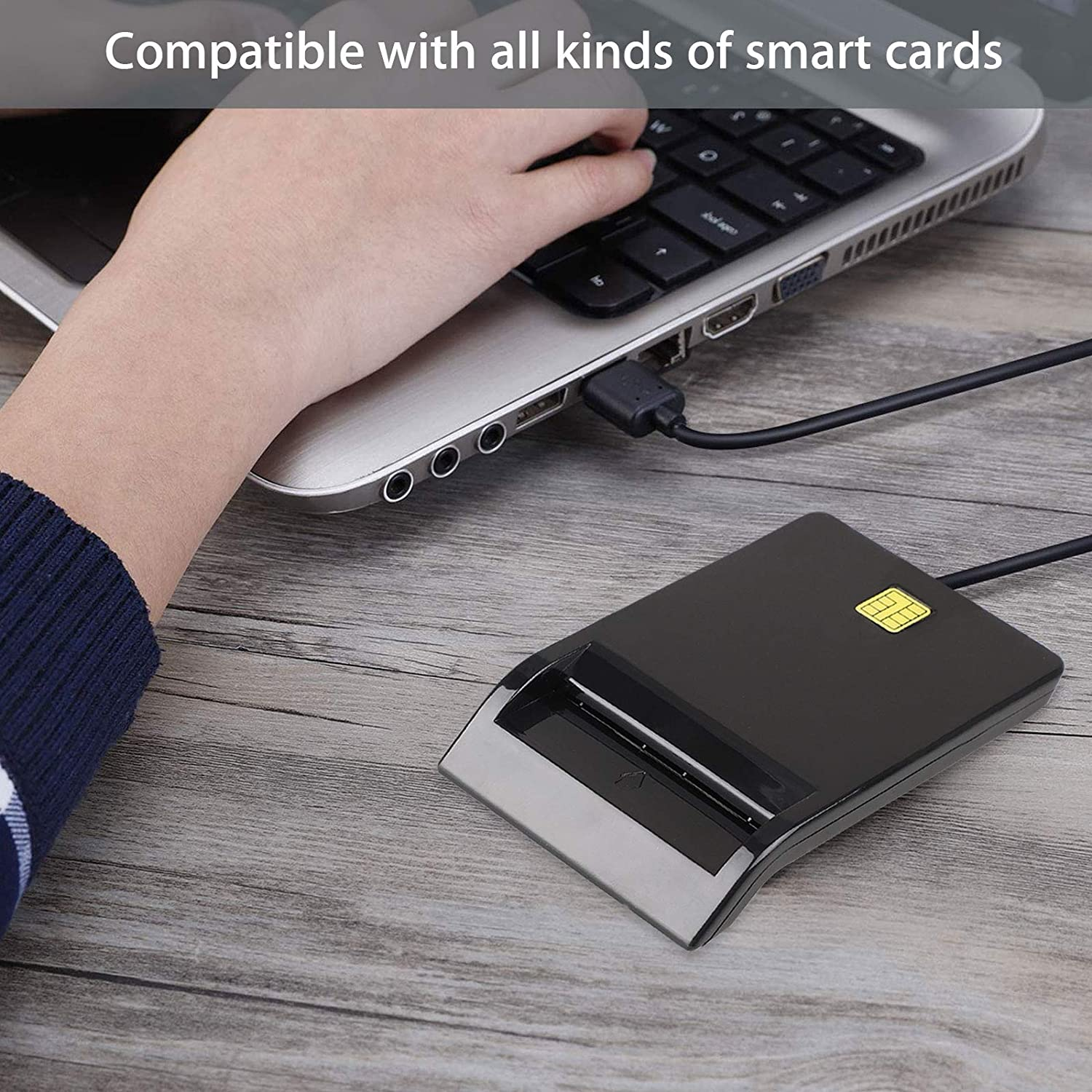 BBalm DOD Military USB CAC Smart Card Reader, compatible con ...
