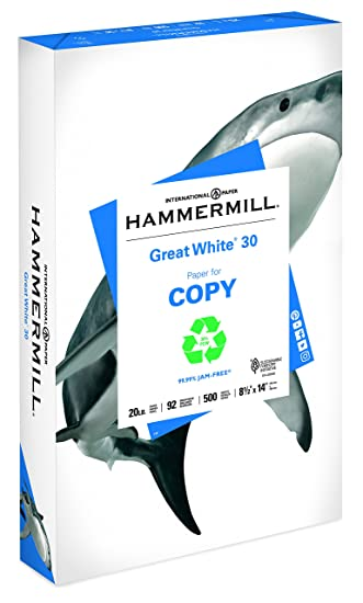 amazon great white recycled copy paper 92 brightness 20lb 8 1 2