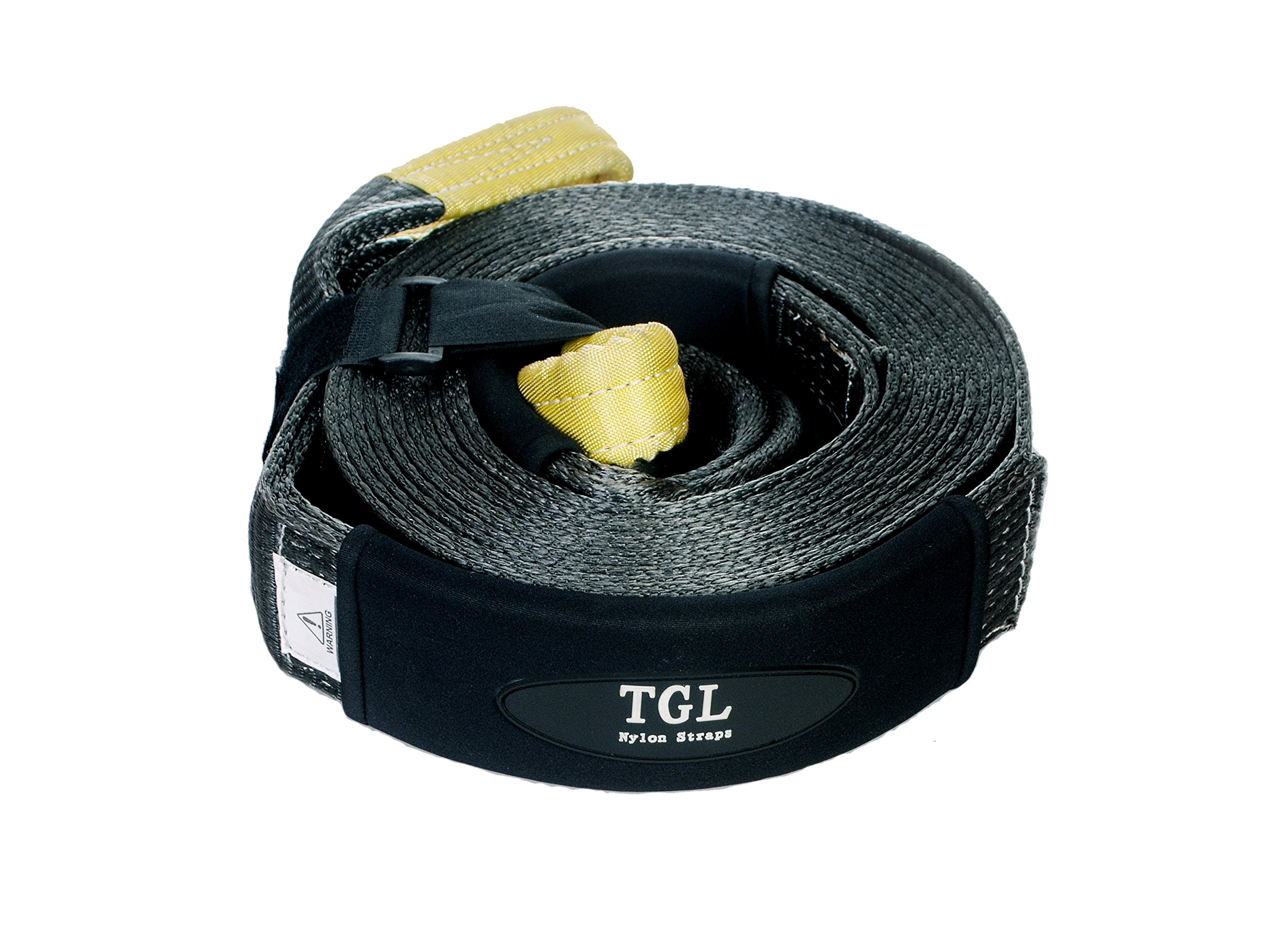 TGL 3 inch, 30 Foot Nylon Recovery Strap, Tow Strap 24,000 Pound Capacity by TGL